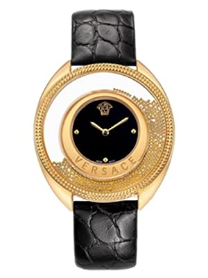 "Versace Women's 86Q70D008 S009 ""Destiny Spirit"" Gold-Plated Watch with Leather Band"
