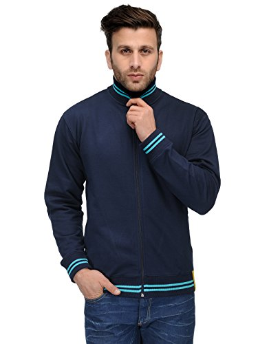 AWG-Mens-Premium-Rich-Cotton-High-Neck-Hoodie-Sweatshirt-Navy-Blue