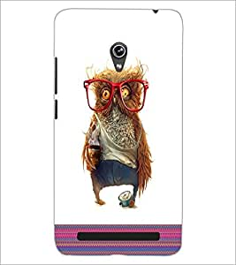 PrintDhaba Owl D-5787 Back Case Cover for ASUS ZENFONE 6 A601CG (Multi-Coloured)