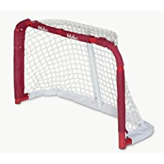 Mylec Pro Style Mini Steel Hockey Goal, Red by Mylec