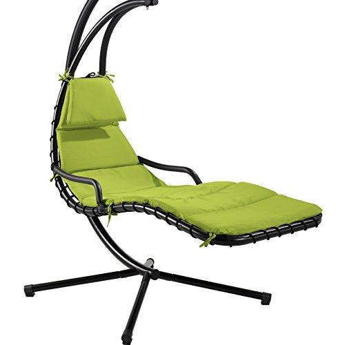 Auflage-und-Kopfkissen-grn-Ersatzteile-fr-Hngeliege-Schwingliege-Sonnenschaukel-Sonnenliege-Dreamchair