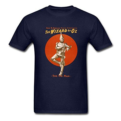[fashion Wizard of Oz the tin man Logo T shirts for men XL] (Tin Man On Wizard Of Oz)