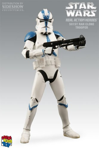 "Medicom Real Action Heroes Star Wars 501st Clone Trooper 12"" Action Figure"