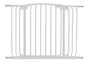 Dreambaby Swing Closed Hallway Security Gate, White
