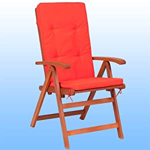 6 coussins chaise orange pour chaises fauteuils coussin jardin meuble jardin chaise fauteuil. Black Bedroom Furniture Sets. Home Design Ideas
