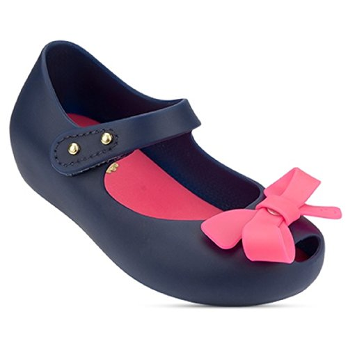 "Mini Melissa Toddler ""Ultragirl Bow"" Mary Jane Flat Shoes - Navy 6 M Us Toddler front-272489"
