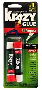 Krazy Glue KG517 Instant Krazy Glue All Purpose 0.07-Ounce, 2-Pack