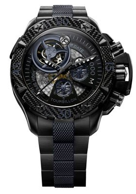 Zenith Chronograph Watch:Zenith Men's 96.0529.4035/51.M Defy Xtreme Tourbillon Titanium Chronograph Watch Images