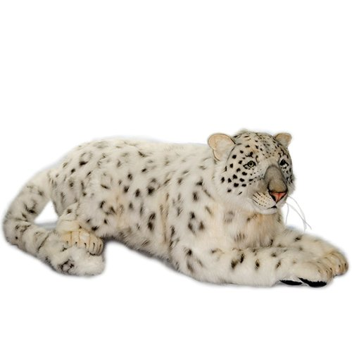 Hansa Snow Leopard Cub Stuffed Plush Animal, SItting