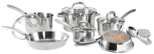 Christmas T-Fal Ultimate Stainless-Steel Copper-Bottom 12-Piece Cookware Set Deals