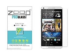Zoop Premium 2.5D Rounded 9H 2.6mm Anti Burst Tempered Glass for HTC Desire 826
