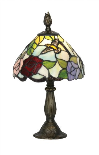 Oaks Lighting Aspen Tiffany Table Lamp, 8-inch