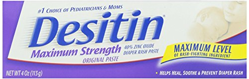 Desitin Maximum Strength Paste, 4-Ounce (Pack of 6 Tubes)