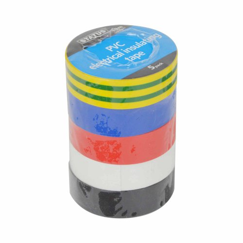 status-s5pkpvcetx6-10m-pvc-electrical-insulating-tape-assorted-colour