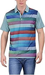 EURO OPEN Men's Polyester Tshirt (EEPTS15FS105-OH-M)