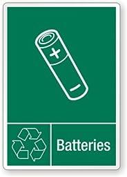 Batteries, Laminated Vinyl Labels, 5\