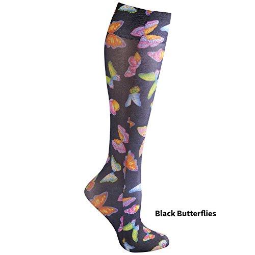 a79929ebf Women s Seasonal Printed Knee High Wide Calf Mild Compression 8-15 Mmhg -  Butterflies. by celeste stein designs