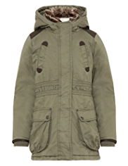 Pure Cotton Hooded Parka
