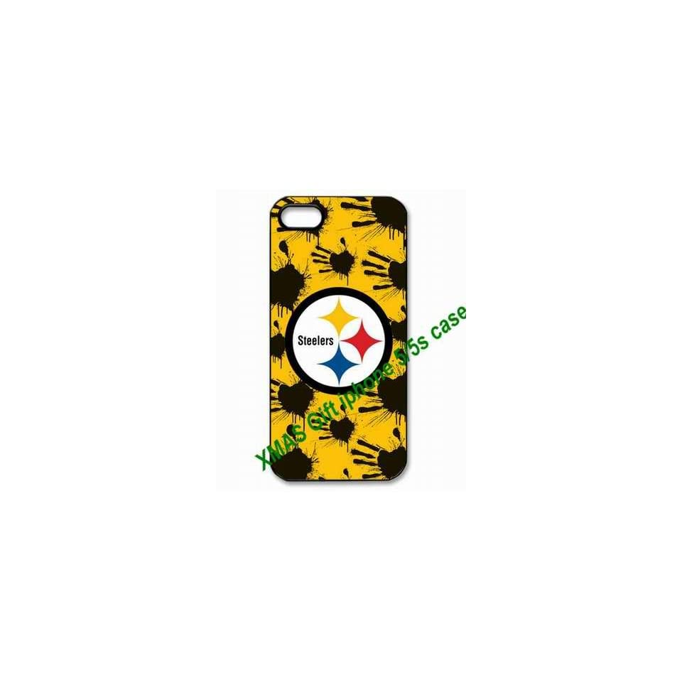 Designed iPhone 5/5s Hard Cases Pittsburgh Steelers team logo great for Christmas gifts by hiphonecases Cell Phones & Accessories