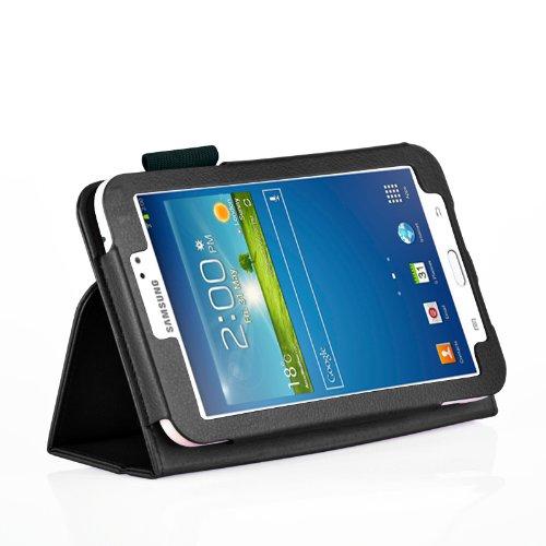 TOP® Samsung Galaxy TAB3 7.0 Inch P3200/P3210 (T211/T210) Wireless Bluetooth Keyboard Portfolio Case, Removeable Wireless Bluetooth Keyboard Leather Case for Samsung Galaxy TAB3 7.0 Inch P3200/P3210 (T211/T210)
