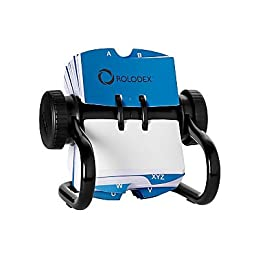 Rolomatic Control® Rolodex® Black Open Metal Single Rotary File, 2 1/4\