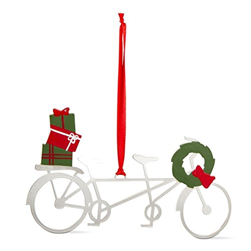 TAG Here Comes Santa, Vintage Christmas Collection Tandem Metal Bike Ornament (Cast Iron Bike compare prices)