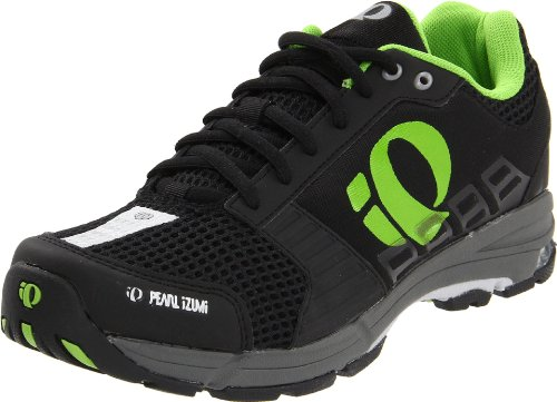 Pearl iZUMi Men's Fuel Cyling Shoe,Black/Silver,45 M EU / US Men's 11 M