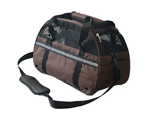 Soft Sided Travel Pet Carrier, Ultimate Comfort Airline Approved New Compact Designed for Dog and Cat (Coffee, Large)