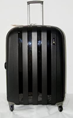 "Luggage X - Set of 3 Lightweight Hard Shell Black Trolley Suitcases 30"" + 26"" + 22"" - NEXT DAY DELIVERY*"