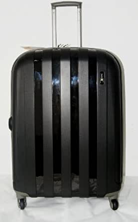 """Virtually Indestructible Luggage 'Luggage X' - 77cm (30"""") Hard Sided Black Polypropylene Lightweight Trolley Suitcase - NEXT DAY DELIVERY*"""