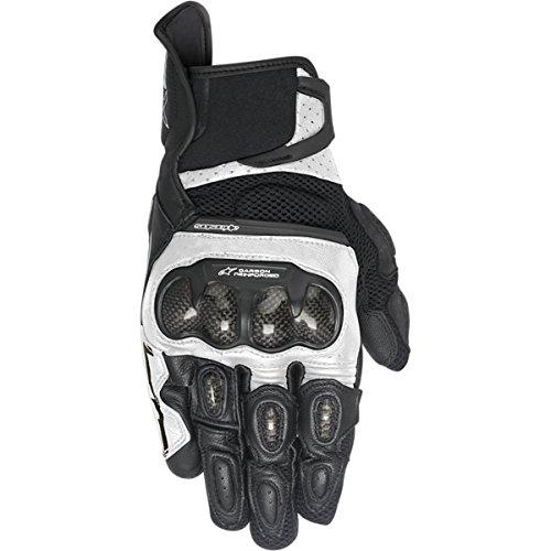 Alpinestars SP-X Air Carbon Women's Street Motorcycle Gloves - Black/White / X-Large