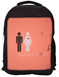 Snoogg And Yet Its Love Backpack Rucksack School Travel Unisex Casual Canvas Bag Bookbag Satchel