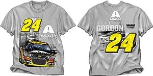 Jeff Gordon #24 NASCAR Adult Axalta Restart T-Shirt - Gray by NASCAR