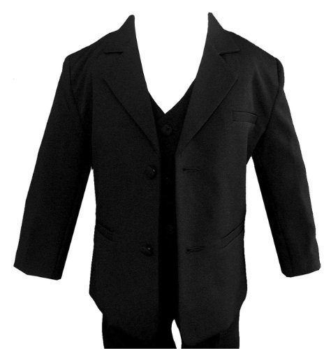 Wedding Formal Boy Black Suit Sizes Baby To Teen (5) front-337706