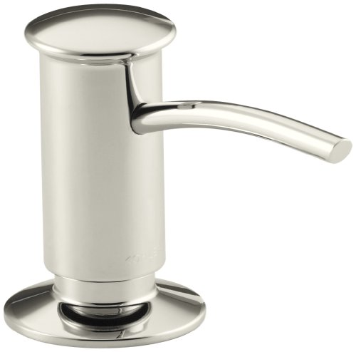 Kohler K-1895-C-SN Soap or Lotion Dispenser with Contemporary Design, Clam Shell Packed (Vibrant Polished Nickel)