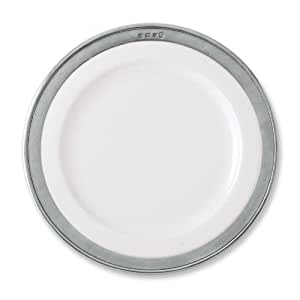 Convivio White Dinner Plate by Match Pewter