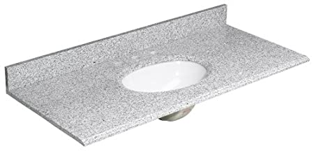 Foremost HG49228RG Heritage 49-Inch Granite Vanity Top, Rushmore Grey