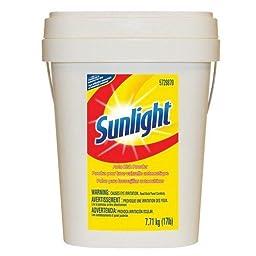 Sunlight 95729870 Powder Auto Dish Detergent, Lemon Scent, 17 lb.