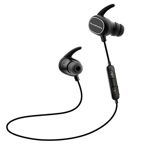 SoundPEATS Bluetooth イヤホン 高音質 [メーカー直販/1年保証付] Bluetooth 4.1 apt-Xコーデック採用 防水防滴 スポーツ仕様 ワイヤレス イヤホン マイク内蔵 ハンズフリー通話 CVC6.0 ノイズキャンセリング搭載 Bluetooth ヘッドホン Q15 ブラック