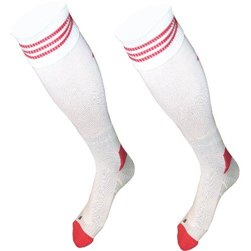 Adidas Strumpfstutzen weiß/rot Stutzen RedBull Salzburg Socks 5 (47-49)