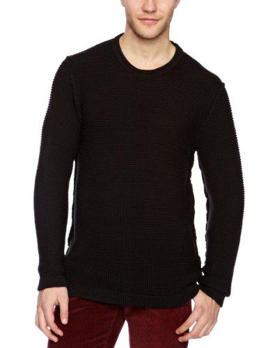 Nunc N13-1253 Kelton Crew Knit Men's Jumper Black Medium