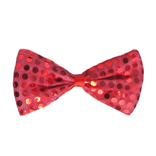 SeasonsTrading Red Sequin Bow Tie ~ Fun Costume Party Accessory (STC12060)