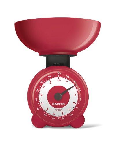 Salter Orb Balance de cuisine mécanique Rouge