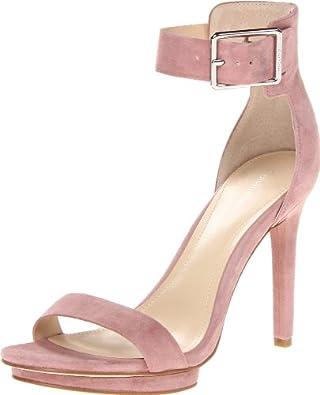 卡尔文 Calvin Klein Women's Vivian Kid Suede美女鹿皮高跟凉鞋 $57.37