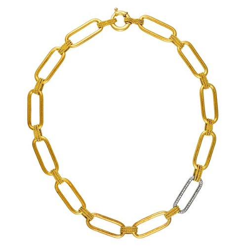 18k .46 Dwt Diamond Yellow Rectangle Links -