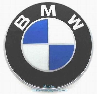 """Bmw Genuine Hood Roundel Emblem With 2 Grommets For All Model And For Trunk Of E32/E38 7-Series From 86 - 01, E34 5-Series From 88 - 95, E36 3-Series From 90 - 99"""