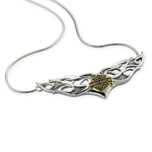 Sterling Silver Harley-Davidson Ladies Tribal Necklace