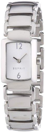 Esprit ES106642001 - Reloj analógico de cuarzo para mujer, correa de acero inoxidable color plateado