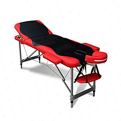 3 Fold Portable Massage Table Facial Spa Bed With Free Carry Case Aluminum