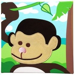 Studio Arts Kids Jungle Room Monkey Wall Art